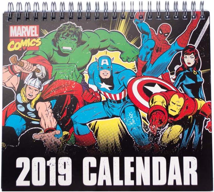Grupo Erik - Calendario Da Tavolo 2019 Marvel Comics 17 X 20 Cm