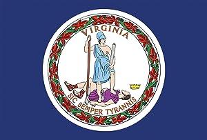 Toland Home Garden Virginia State Flag 12.5 x 18 Inch Decorative USA Garden Flag