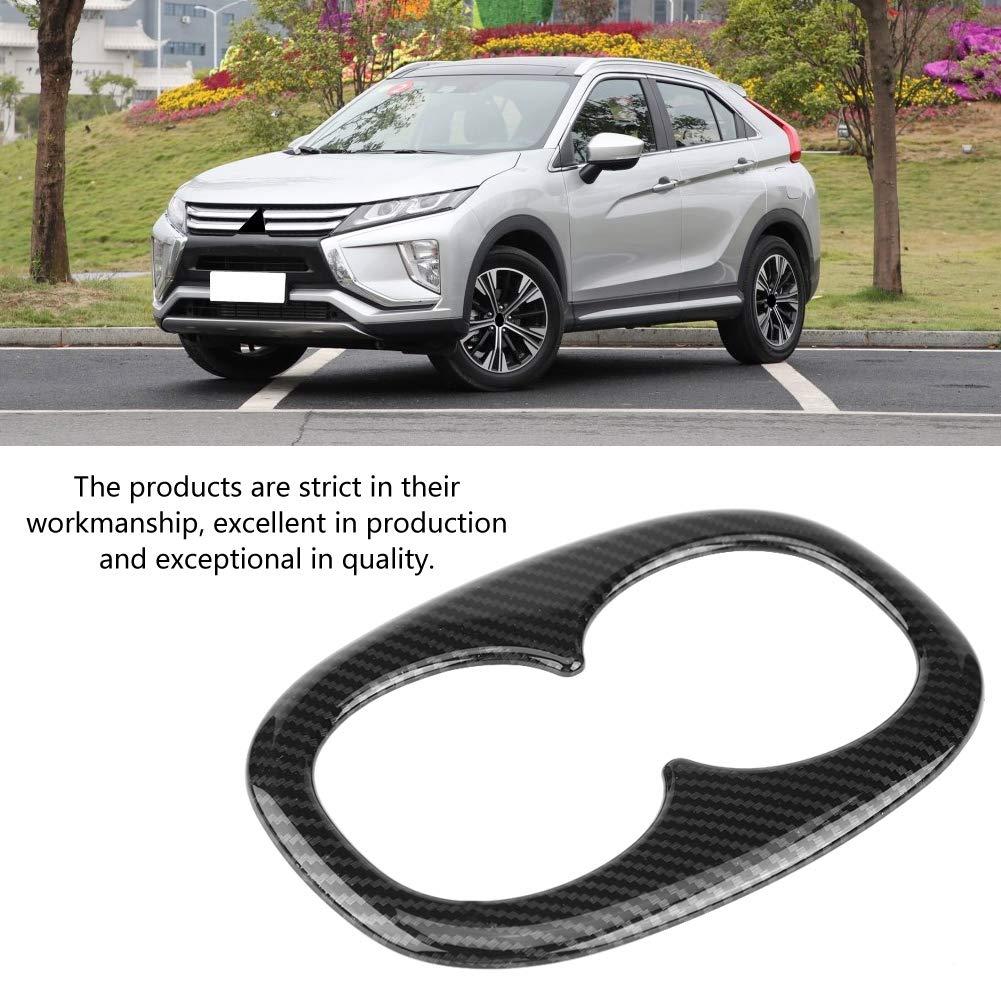 fibra de carbono KIMISS Cubierta del soporte para vaso de agua del asiento trasero del Auto para 2017-2018