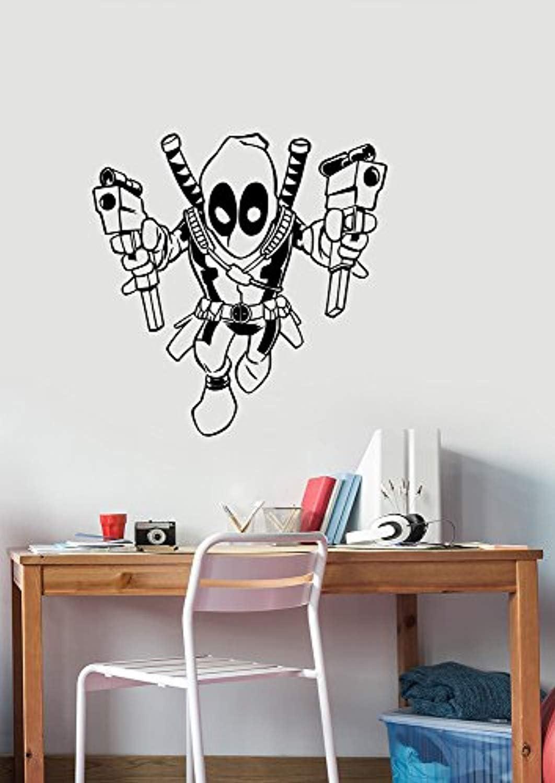Deadpool Removable Wall Sticker Vinyl Decal Marvel Comics Superhero Decorations for Home Bedroom Teen Kids Boys Room Decor dpl2