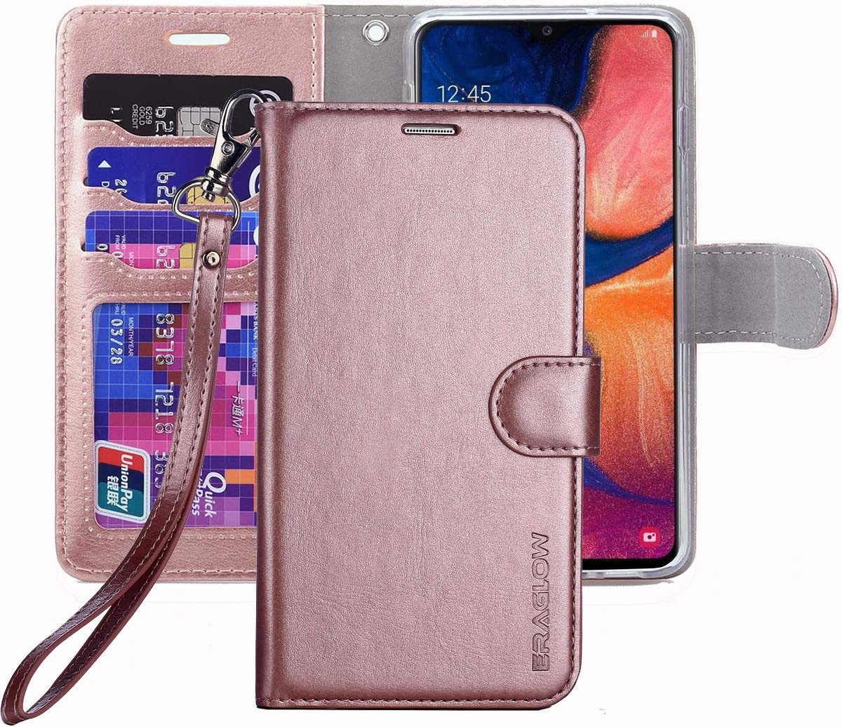 iMangoo Folio Cover for Galaxy A20 Case Galaxy A30 Wallet Case PU Leather ID Credit Card Slot Cash Pocket Cards Holder Magnetic Closure Protective Flip Cases for Samsung Galaxy A20// A30 Black