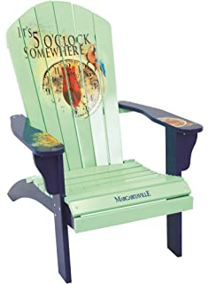 Superior Margaritaville Outdoor Adirondack Chair, Itu0027s 5 Ou0027clock Somewhere, ...