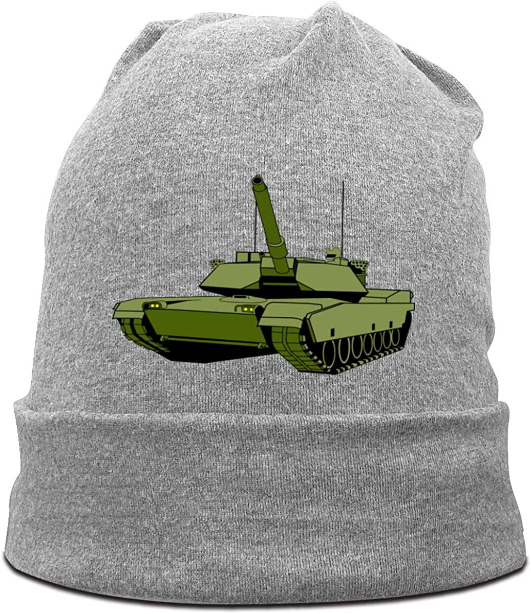 FOECBIR Cartoon Army Tank Soft Beanies Hat for Mens Winter Cap