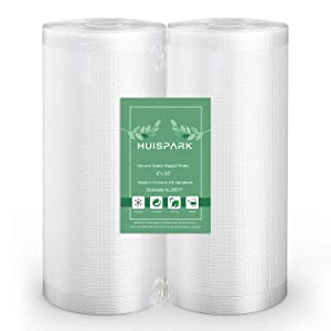 8''x50' Vacuum Sealer Food Grade Bags Heat Sealing Bag Sous Vide(2-Pack Roll)