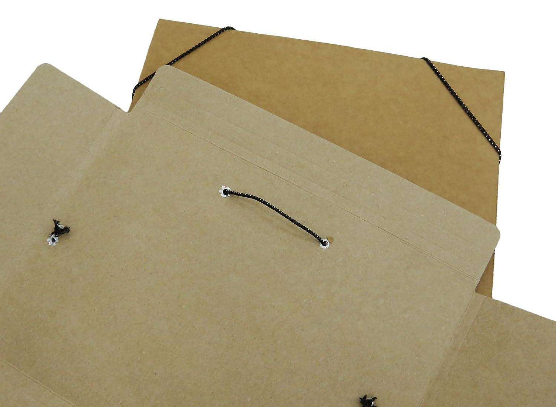 Amazon.com : Zebra Presentation Folder Conference Pad Binder File Kraft Paper A4 Document Folder - Pack of 4 : Office Products