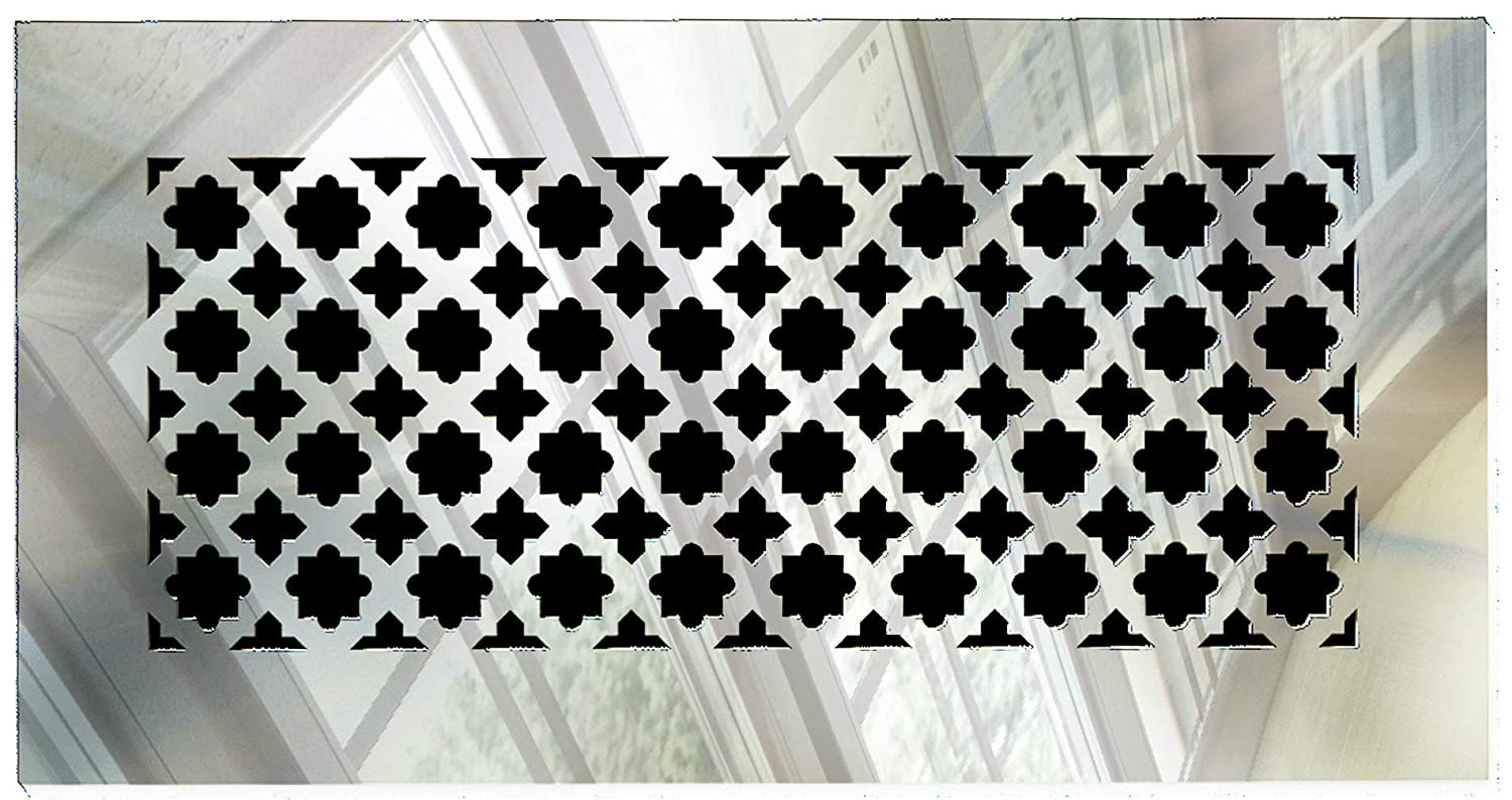 """SABA Air Vent Cover Grille - Acrylic Fiberglass 12 x 6 Duct Opening (14"""" x 8"""" Overall) Mirror Finish Return Register Covers for Walls and Ceilings not for Floor use, Venetian"""