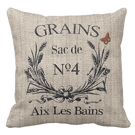 emvency manta funda de almohada vintage francés Aix Les ...