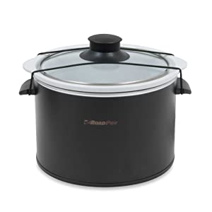 RoadPro 12-Volt 1.5-Quart Slow Cooker in Black