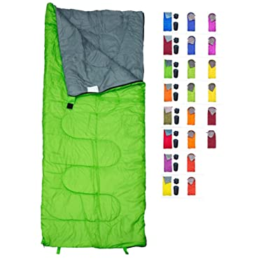 REVALCAMP Sleeping Bag Indoor & Outdoor Use. Great for Kids, Boys, Girls, Teens & Adults. Ultralight and Compact Bags are Perfect for Hiking, Backpacking & Camping