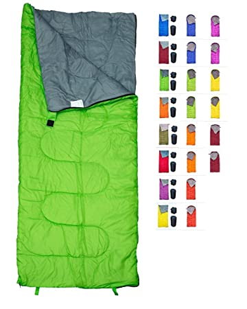 REVALCAMP Sleeping Bag Indoor Outdoor Use. Great for Kids, Boys, Girls, Teens Adults. Ultralight and Compact Bags are Perfect for Hiking, Backpacking Camping
