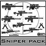 "Custom Modern Warfare SNIPER RIFLES Miniature Toy Guns 2"" Scale Pack designed for Minifigures"
