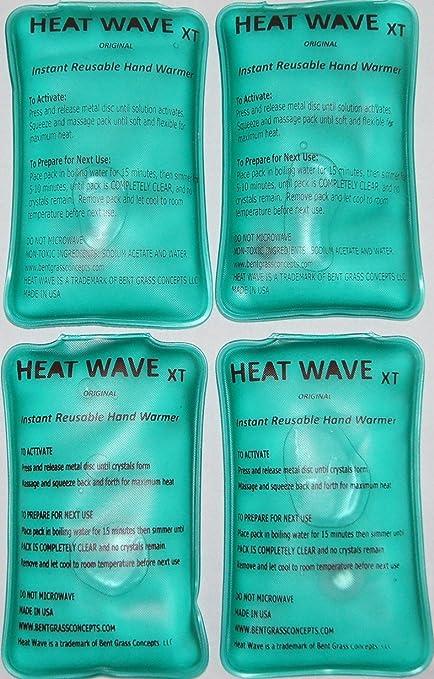 Heat Wave - Calentadores de manos, 4 unidades (2 pares), extra grande