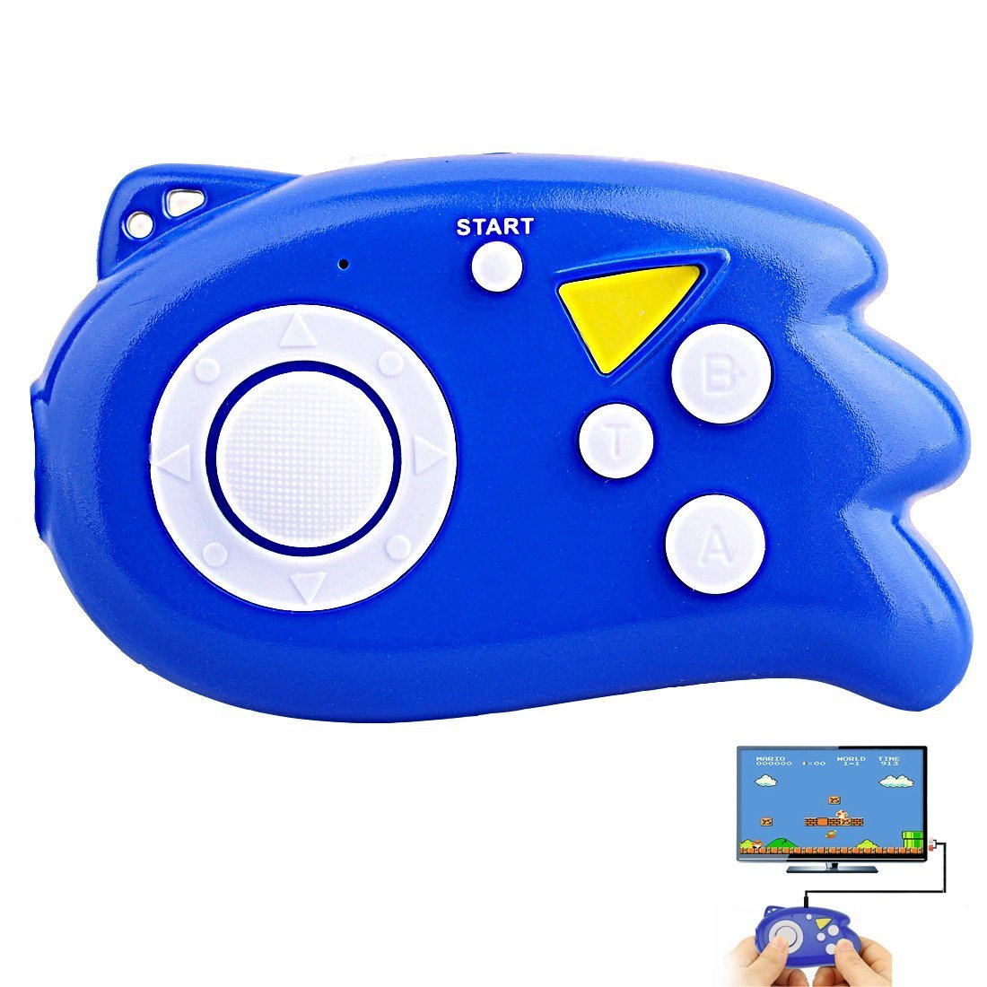 E-MODS GAMING Hisonders TV Mini Game Console, Plug & Play Player with 89 TV Games (Blue)