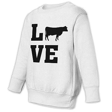 baa16e13f I Love Cows Baby Children 2-6 Toddler Fleece Sweatshirt Sweaters