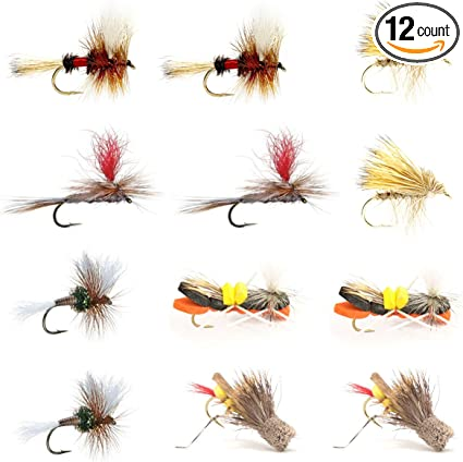 Wulff Royal # 8 10..dry fly 12 flies 2 sizes