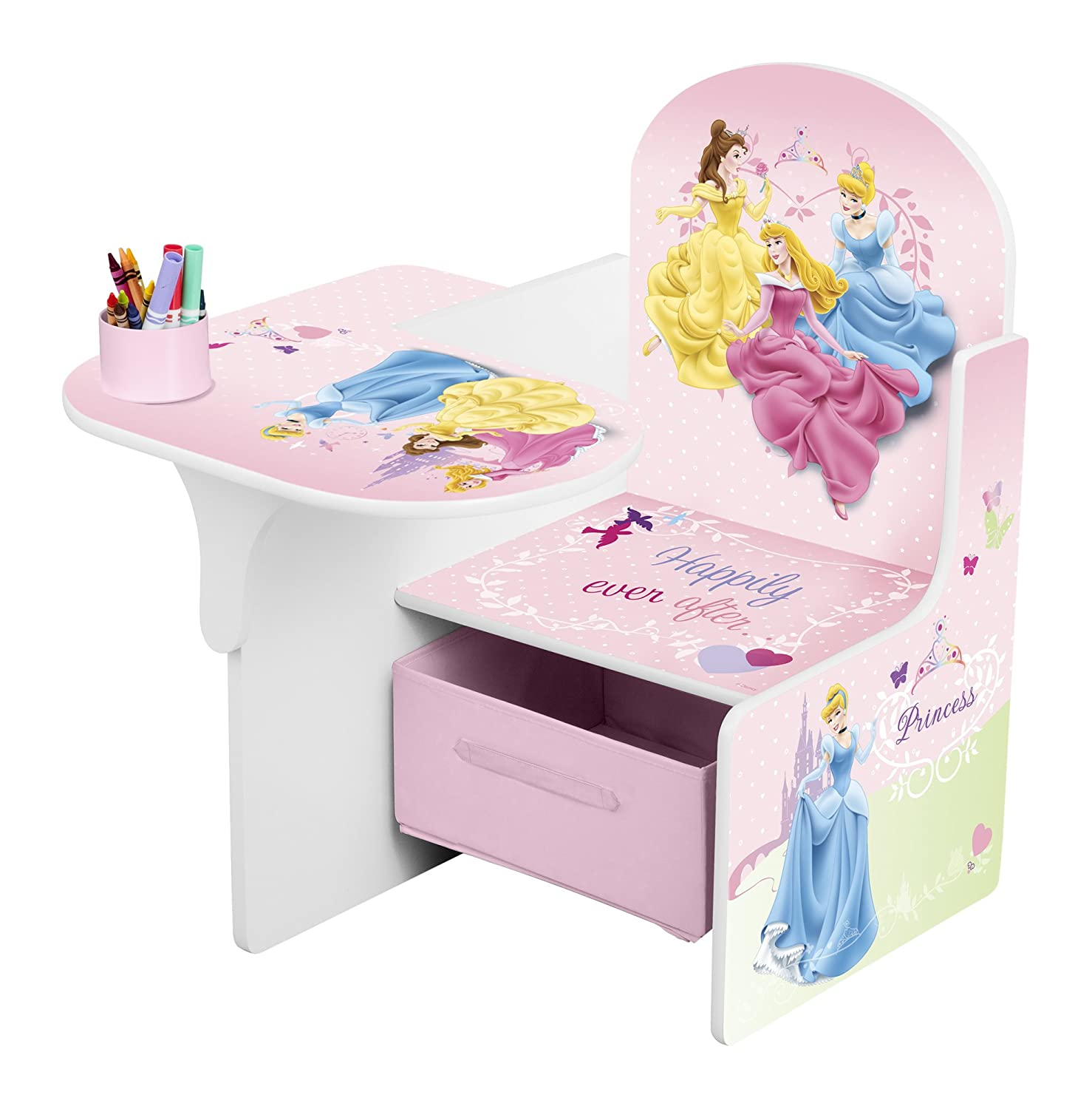Disney Princess Chair Desk with Storage Bin Amazon Kitchen