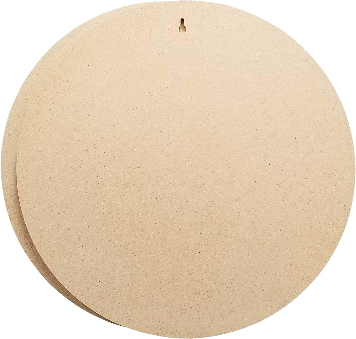 Studio Papilia Round, 18x18 inch 2-Pack | Unfinished Wooden Shape | Paint Pouring Art Panel | Wood Boards for Crafts | DIY Plaque Plank Cutout | Blank Sign Tray | Artist Painting | Resin Flow Epoxy