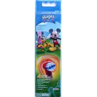 Oral-B Stages Power Mickey Mouse - Replacement Brush Heads (1 pack = 4 pieces) Disney for kids!