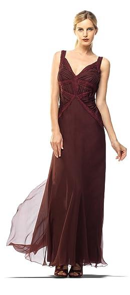 Amazon.com: SILK CHIFFON EVENING GOWN: Clothing