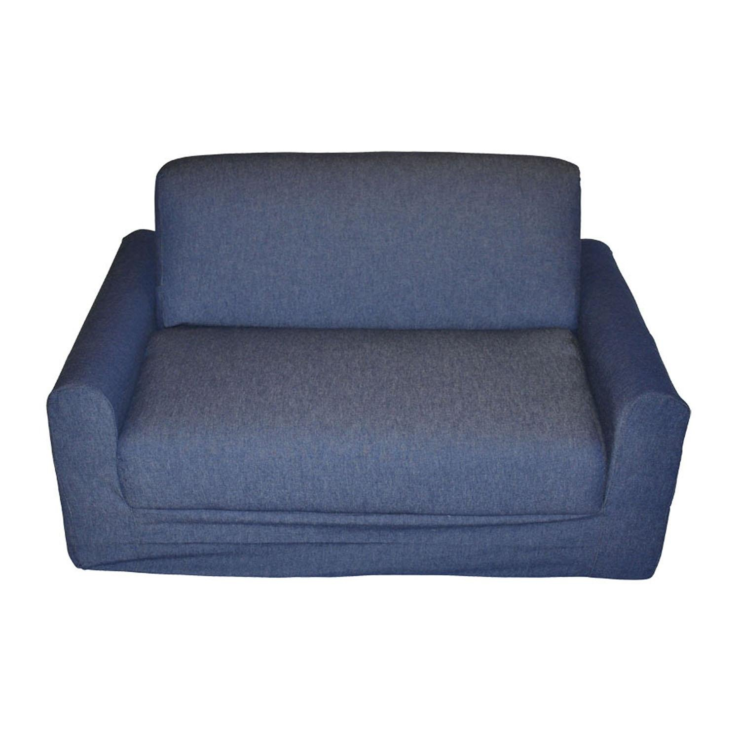 Fun Furnishings Kid's Sofa Sleeper, Denim