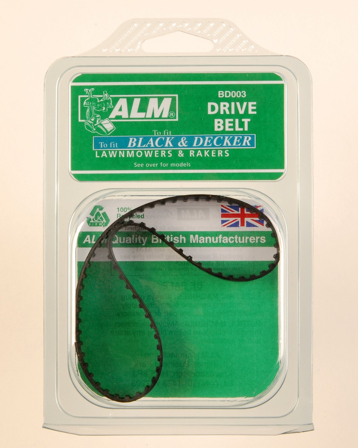 ALM Black & Decker Drive Belt for Lawnmower & Lawnrakes BD003 (See description for models)