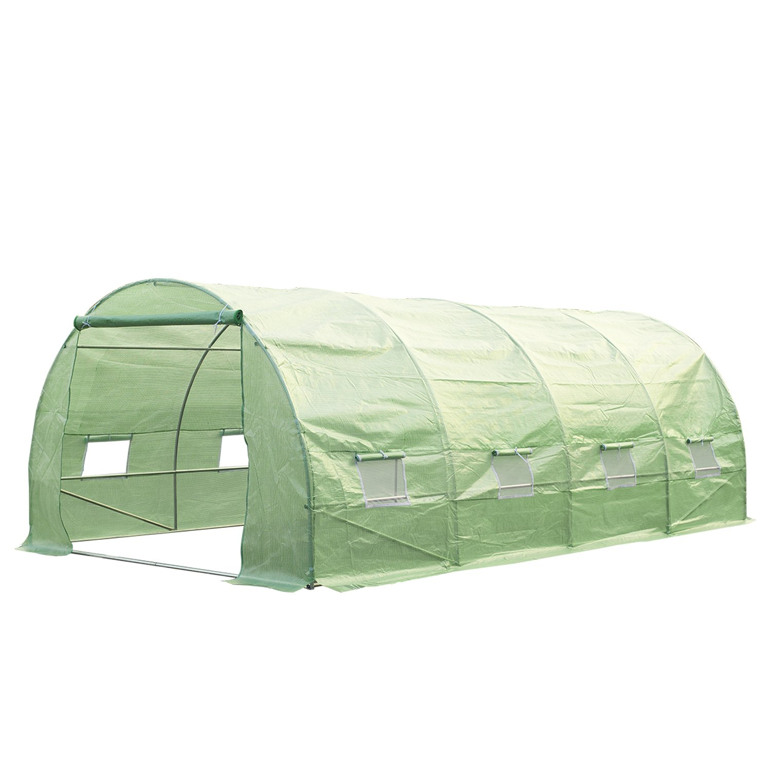 HOMCOM Outsunny 6 x 3 x 2m Walk-in Outdoor Garden Greenhouse Polytunnel with Door and Windows Sold By MHSTAR