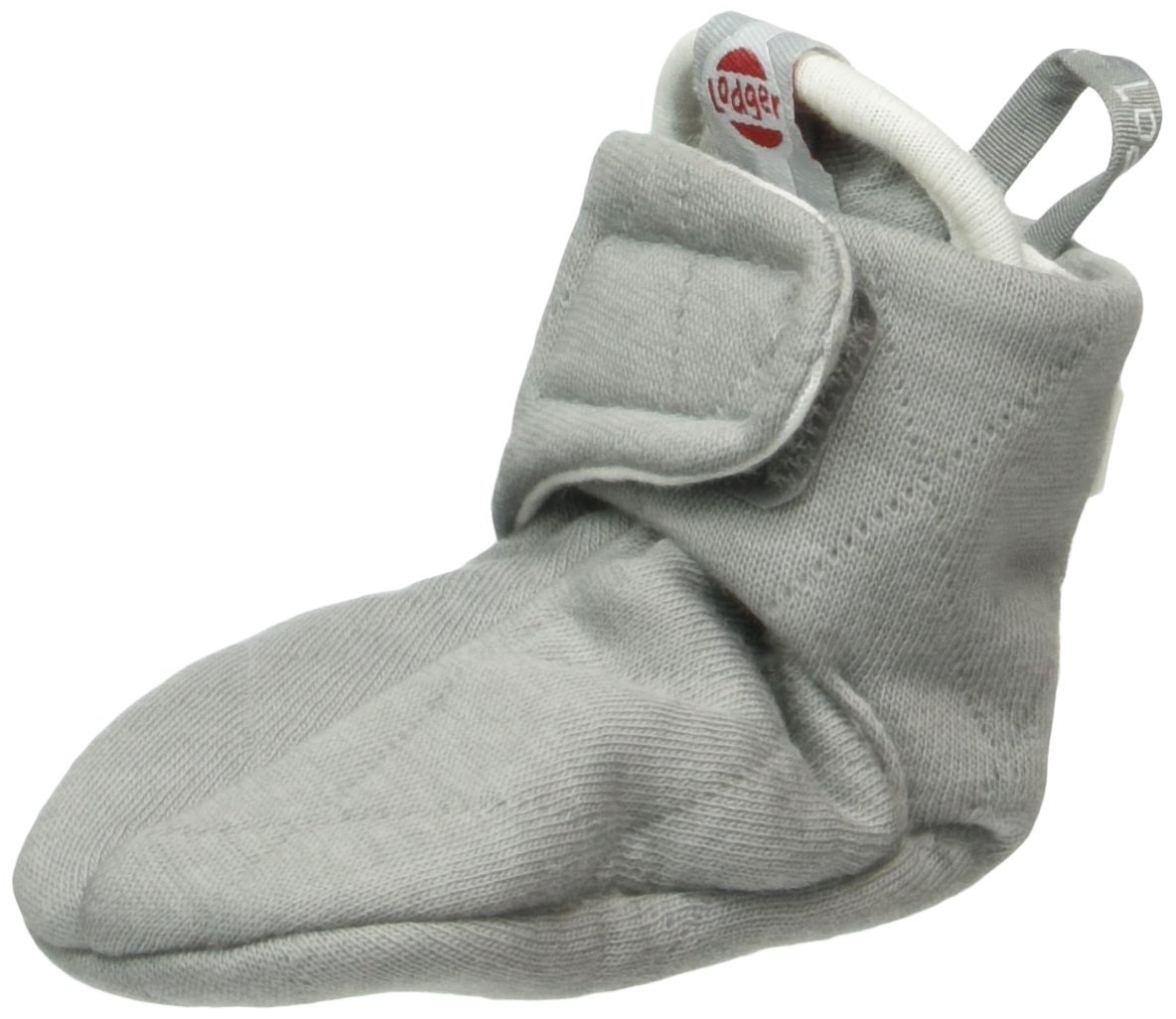 Lodger Cotton Quilt Baby Booties (0-3 Months, Grey) SLCTH6007048 0-3
