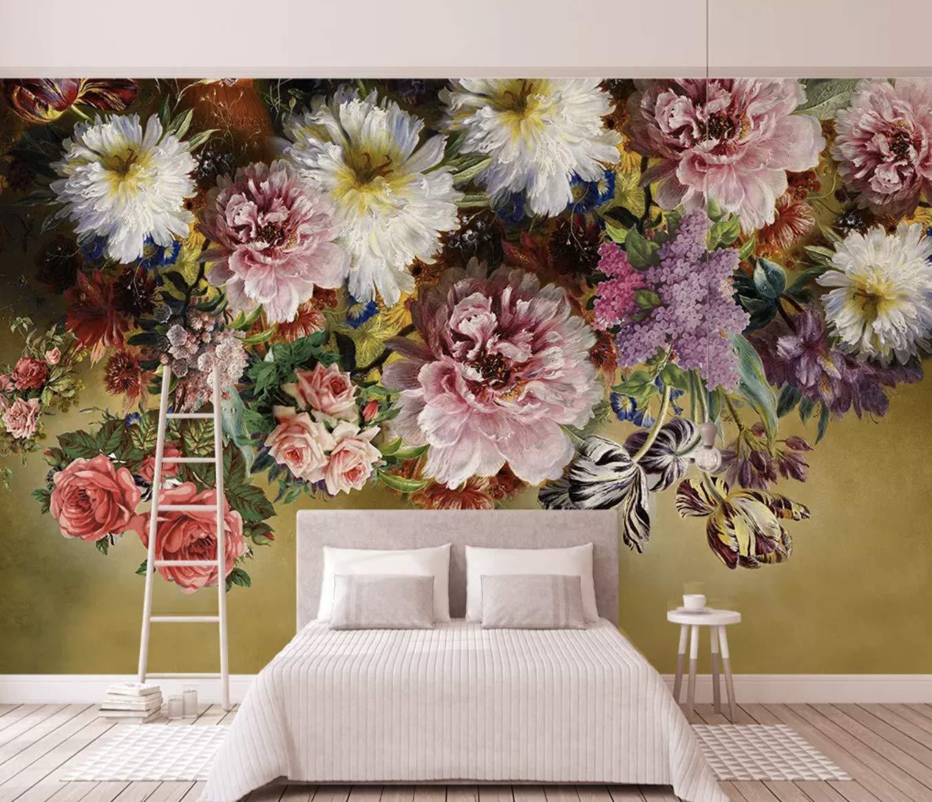 Amazon Com Murwall Floral Wallpaper Vine Flower Wall Mural Retro