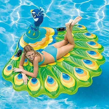 FBEST Flotador de Pavo Real Hinchable Grande. Divertida colchoneta Hinchable de Playa y Piscina para niños y Adultos: Amazon.es: Deportes y aire libre