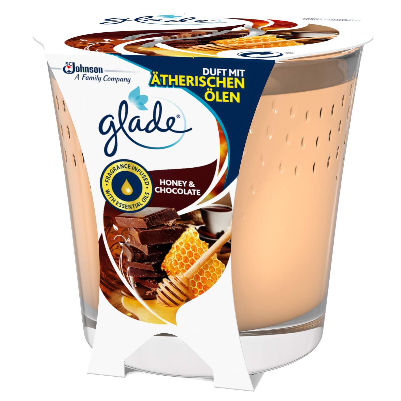 6 pezzi durata fino a 30 ore Glade Honey /& Chocolate Candela profumata