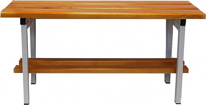 COARME Panca da 150 cm 1,5 Metri da spogliatoio Metallo e Legno