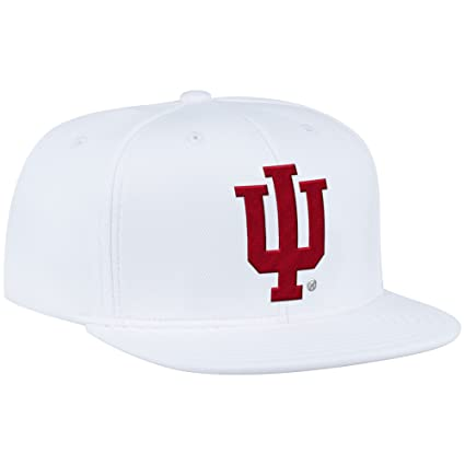 detailed look 56edc ae00e ... best price ncaa indiana hoosiers mens zne flat brim snapback cap one  size white 9f22f 52bfd