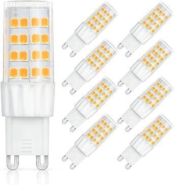 SHINE HAI bombillas LED G9 6W equivalentes a Lámparas halógenas de ...