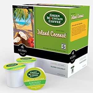 Keurig, Green Mountain, Island Coconut, K-Cup packs, 48-Count
