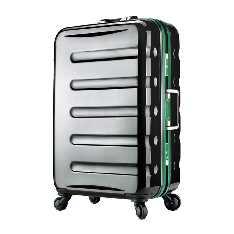 【レジェンドウォーカー】LEGEND WALKER スーツケース アルミフレーム 鏡面ボディ TSAロック 軽量 機内持込~大型 B0798N3L74 機内持込サイズ(1~3泊/31.5リットル) ブラック/グリーン ブラック/グリーン 機内持込サイズ(1~3泊/31.5リットル)