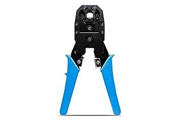 KnnX 28110 - Herramienta de Crimpadora - Alicates de crimpado para RJ45, RJ11, RJ10 - Pelacables - Cortador: Amazon.es: Bricolaje y herramientas