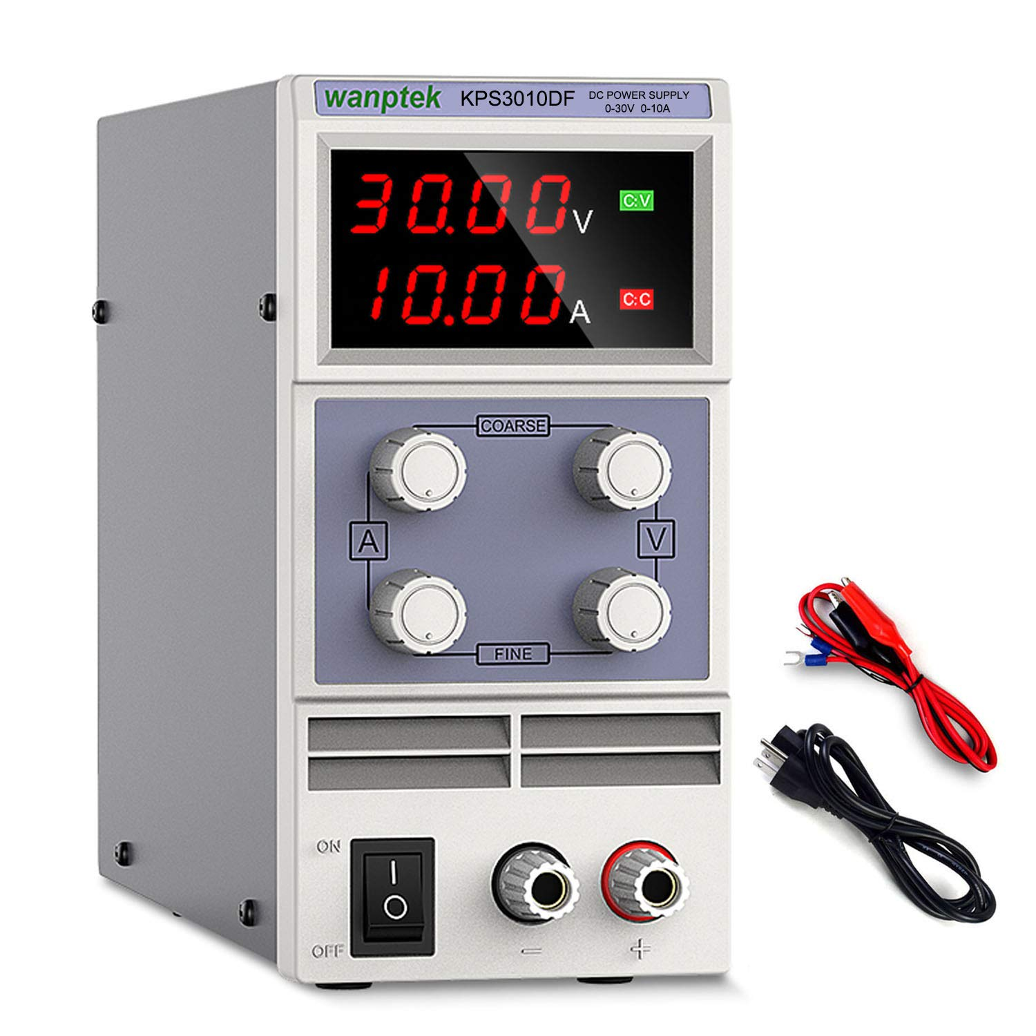 Variable Linear Adjustable Lab DC Bench Power Supply Digital 30V 5A//10A DC Power