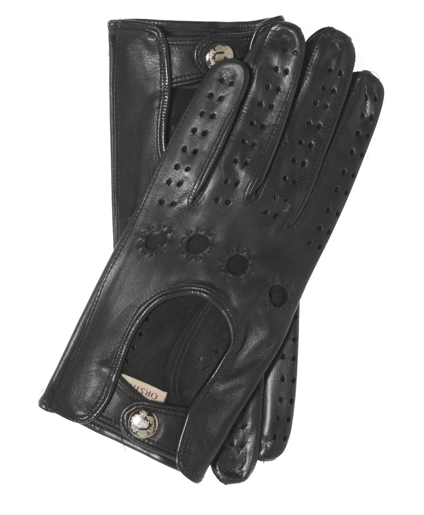 Fratelli Orsini Women's Italian Leather Driving Gloves Size 8 Color Black