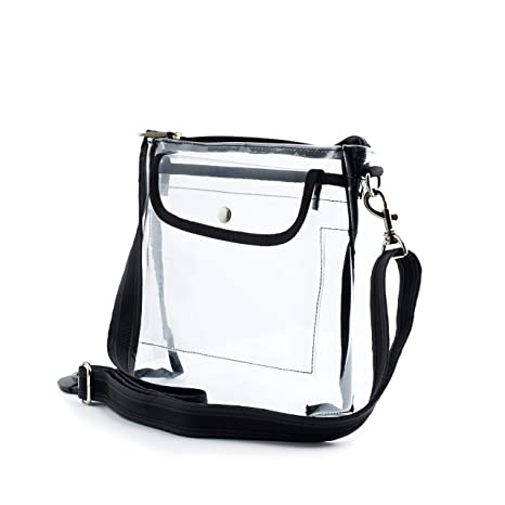 a421fe47de6e Image Unavailable. Image not available for. Color  grinderPUNCH Deluxe Clear  Purse NFL  PGA Approved Cross-Body Shoulder Messenger Bag ...