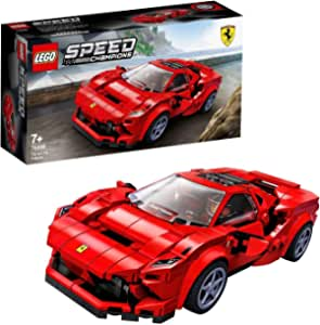 LEGO 76895 Speed Champions Ferrari F8 Tributo  Racer Toy, with Racing Driver Minifigure, Race Cars Building Sets