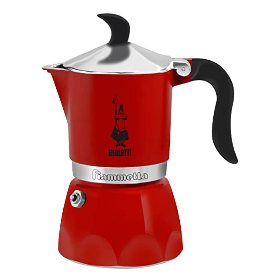 Bialetti Fiammetta - Cafetera (Independiente, Rojo, Estufa, 1 cups, Ground coffee, Coffee)