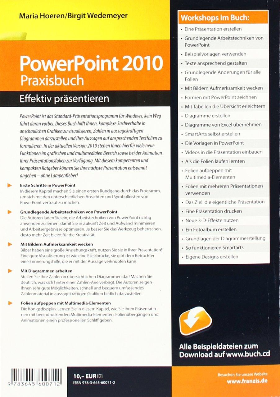Powerpoint 2010 Praxisbuch - effektiv präsentieren!: Amazon.de ...