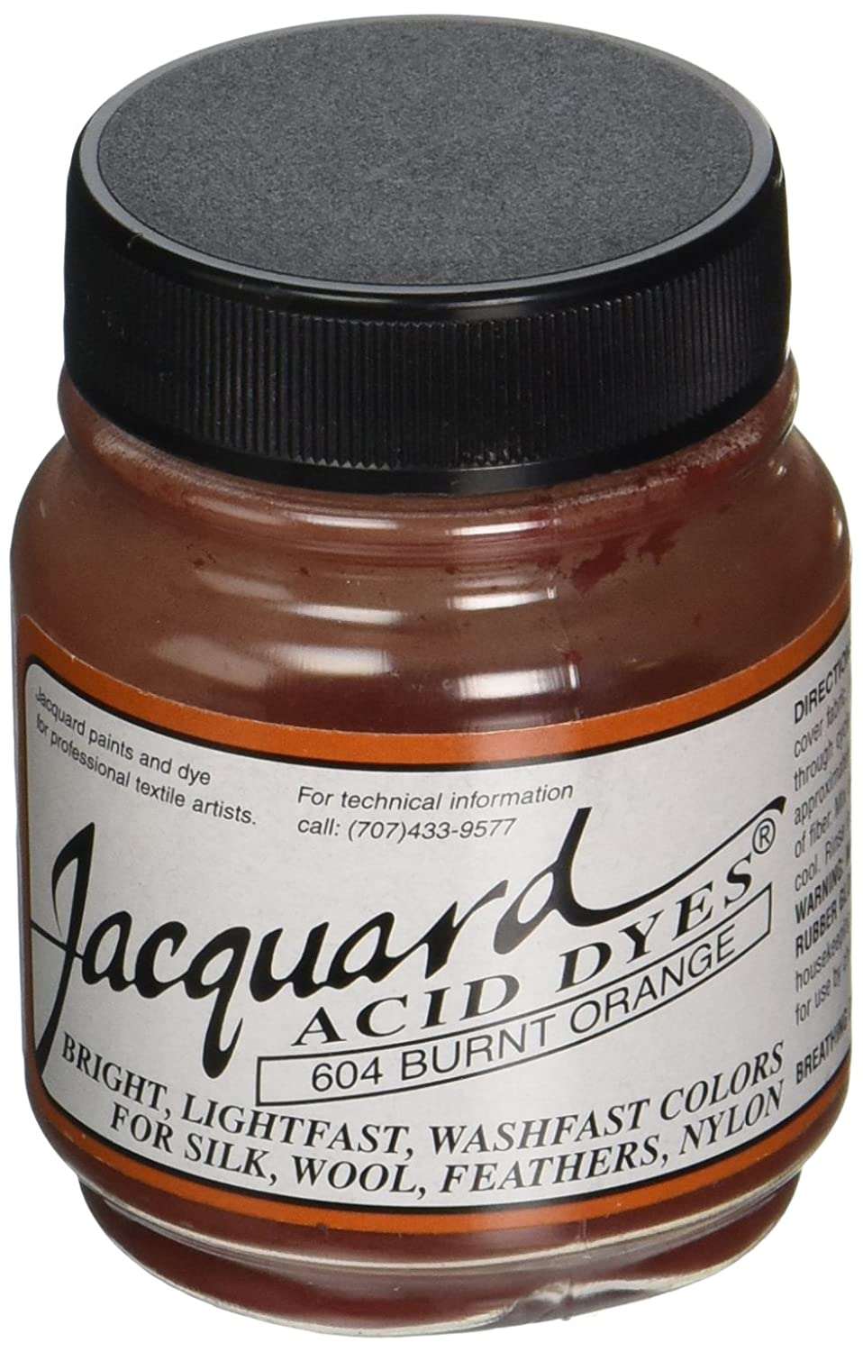 Jacquard Acid Dyes .5oz-Burnt Orange Jacquard Products FBA_JAC1604