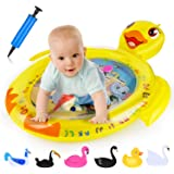 EKOOS Tummy Time Baby Water Mat Infant Toy Inflatable Play Mat for 3 6 9 Months Newborn Boy Girl, Water Play Mat for Kid Tummy Time Early Development Activity Centers, Duck Shape
