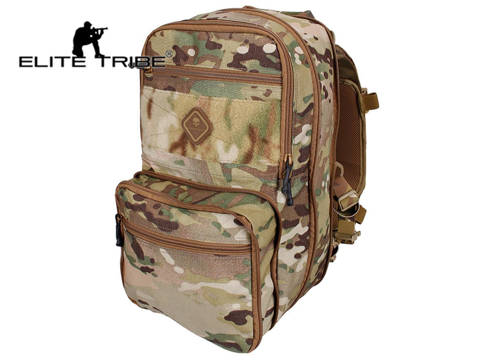 Elite Tribe Tactical Backpack Hydration Backpack Molle Pouch Military Multipurpose Travel Multi-Purpose Shoulder Bag