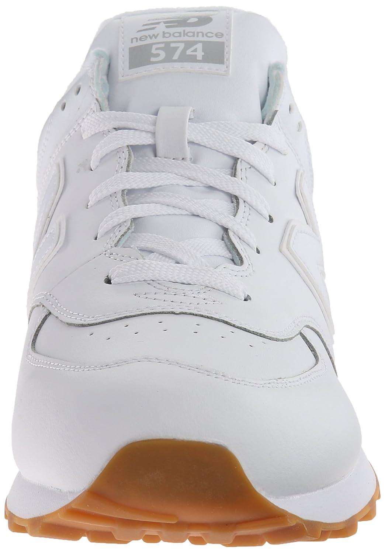 Los Nuevos Mens De Equilibrio Nb 574 De Cuero Paquete De Correr Zapato Blanco uUtb1oo3