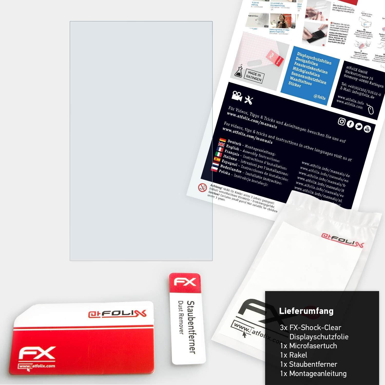 ultraklare und sto/ßd/ämpfende FX Folie atFoliX Schutzfolie kompatibel mit Garmin DriveSmart 65 Panzerfolie 3X