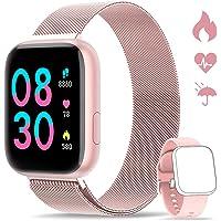 WWDOLL Smartwatch, Reloj Inteligente IP67 con Monitor Rítmo Cardíaco Sueño Podómetro Notificaciones, Reloj Deportivo 1.4…