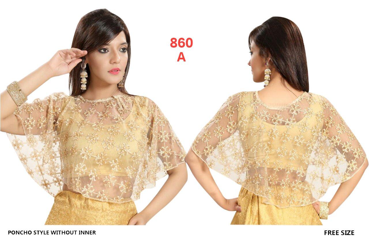 547e970ef635 Designer ready to wear Crope Top Poncho Women Choli Indian Lycra Net  Stretchable Saree Blouse Party Wear: Amazon.com.au: Home Improvement