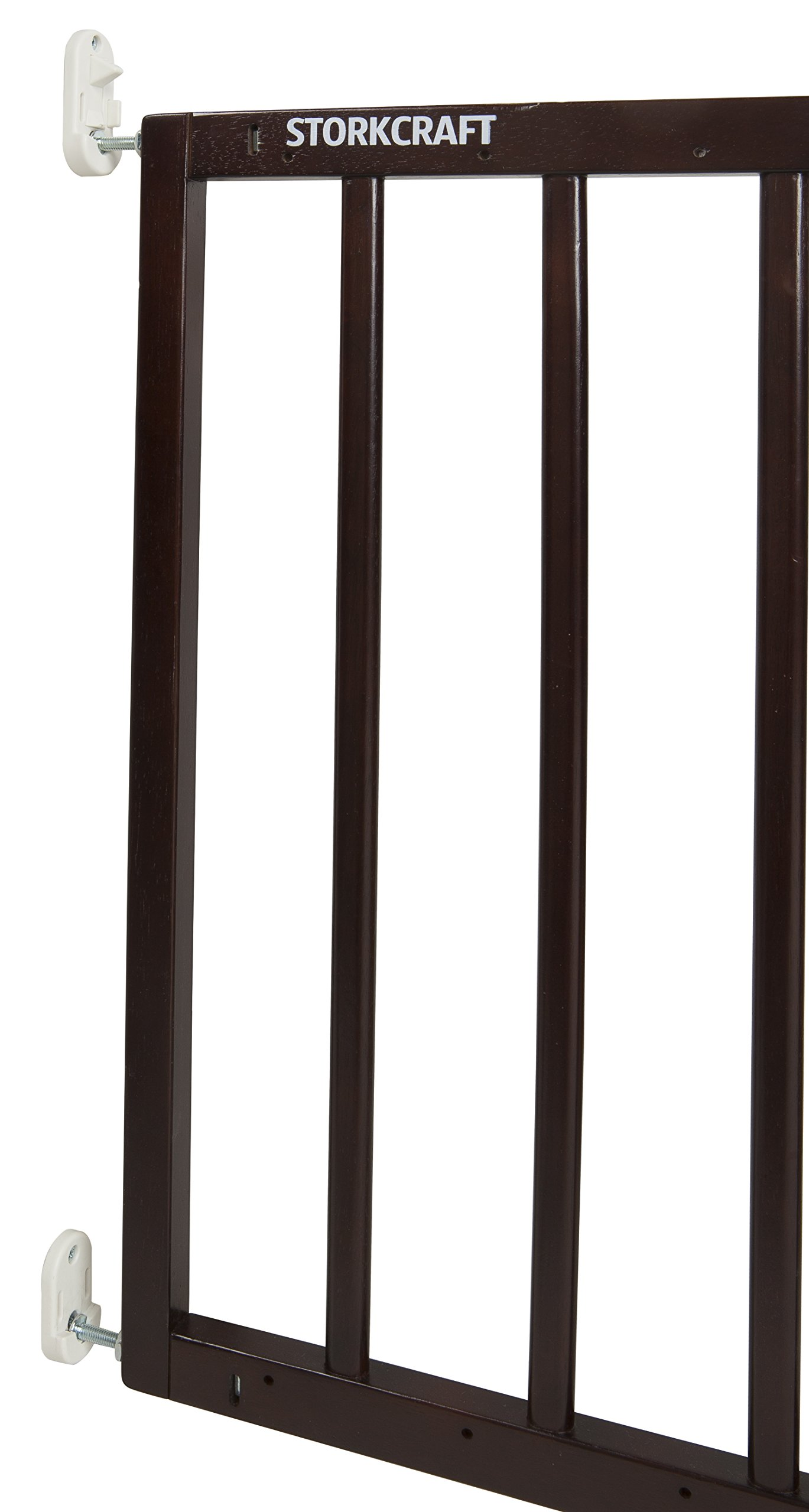 Storkcraft Easy Walk-Thru Wooden Safety Gate, Espresso Adjustable Baby Safety Gate For Doorways and Stairs, Great for Children and Pets by Stork Craft (Image #9)